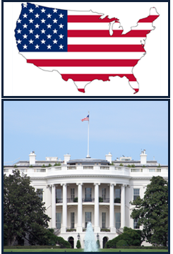 US Map With Flag, The White House